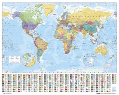 World Map with Flags - Map of the World