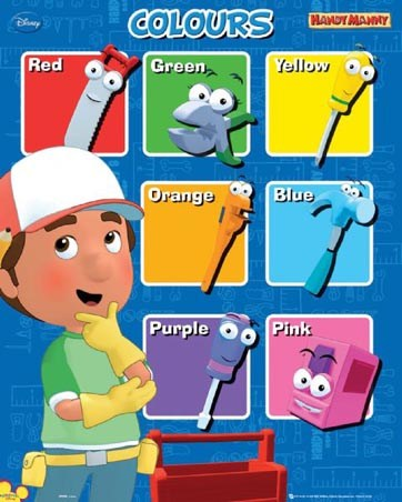 Let's Learn Colours - Handy Manny