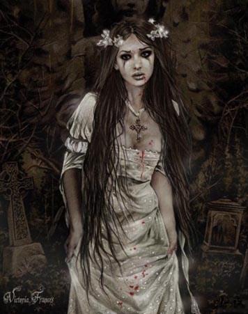 Framed Anatheme The Vampire - Victoria Frances