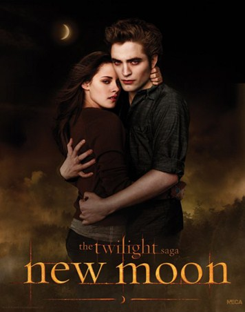Bella and Edward Embrace in the Woods - Kristen Stewart and Robert Pattinson in Twilght: New Moon