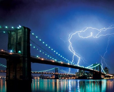 Storm Over Manhattan - Brooklyn Bridge