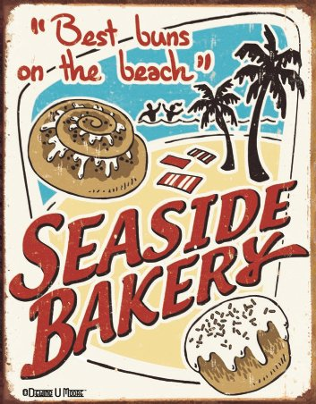 Seaside Bakery - Retro Humour