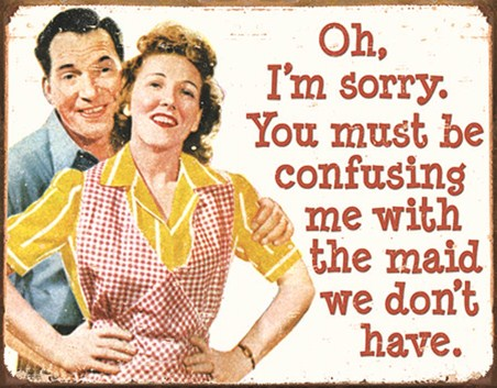 Sorry Maid! - Retro Humour
