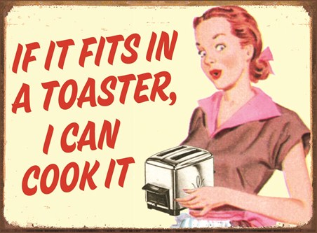 Toaster Cookery - Retro Humour