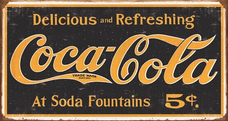 Coca Cola Logo, Vintage Advertisement