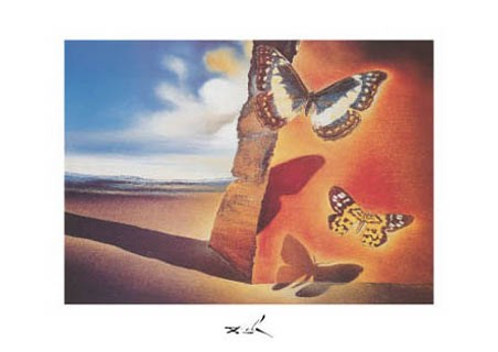 Landscape with Butterflies, 1956 - Salvador Dali