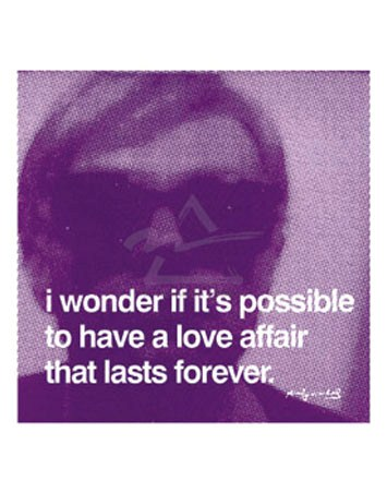 I wonder if its possible… - By Andy Warhol