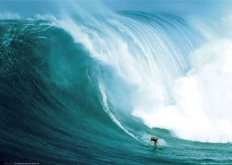 Laird Hamilton Rides a Wave at Peahi, Santa Monica - Riding Giants