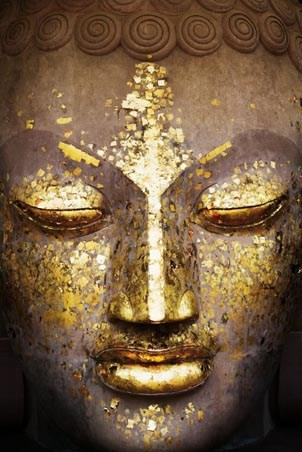 Speckled in Gold - The Face of the Buddha