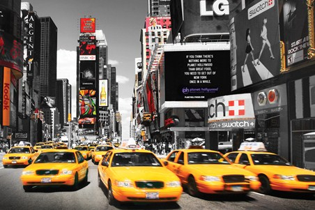Times Square Taxis - Times Square