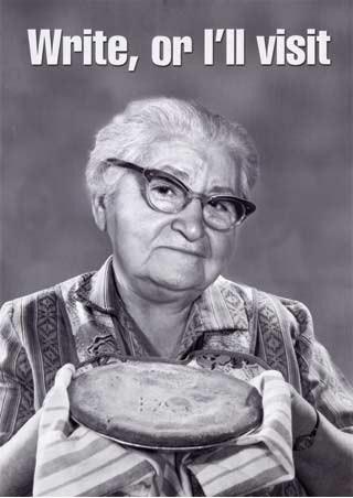 Write or I'll Visit - Grandma & Pie