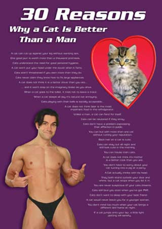 Why a Cat is better than a Man - Thirty Reasons, Cat