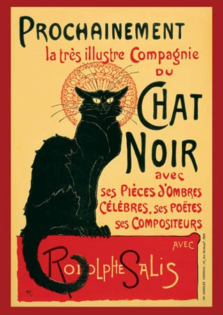 Framed Tournee du Chat Noir (Turn of the Black Cat) - Theophile Alexandre Steinlen