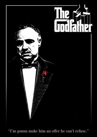 Framed Don Vito Corleone with a Red Rose - The Godfather