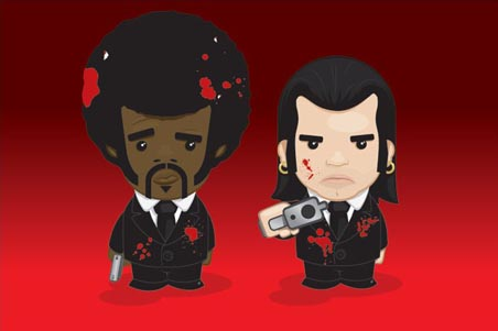 Vincent and Jules Cartoon - Pulp Fiction Movie