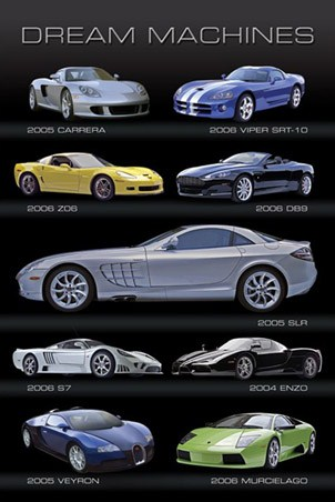 SLR, Enzo, Veyron, Murcielago, DB-9 - Dream Machines