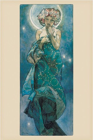 Framed Moon - By Alphonse Marie Mucha