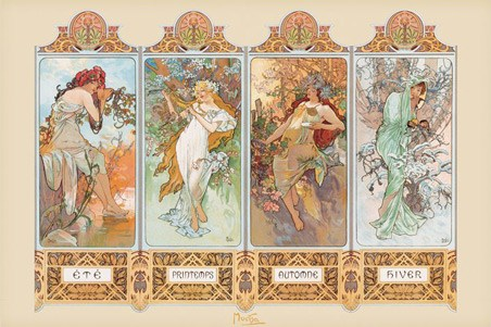 Seasons, 1896 - By Alphonse Marie Mucha