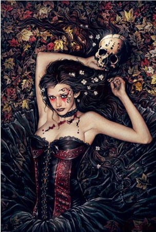 Skull Girl - By Victoria Frances