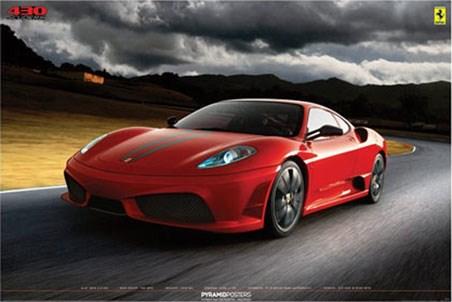 Ferrari Scuderia Italian Sports Car PopArtUK - Sports cars posters