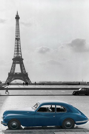 La Voiture Bleue - Paris Photography