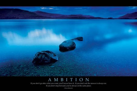 Ambition - Nora Roberts Quote