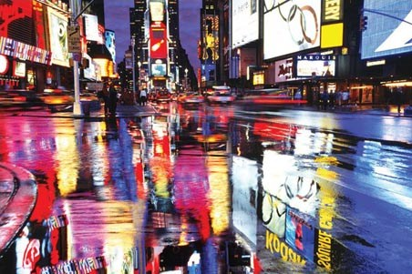 Colourful Reflection - Times Square