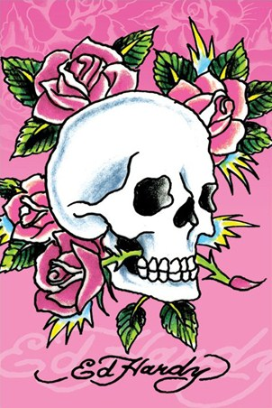 Skull and Roses - Ed Hardy