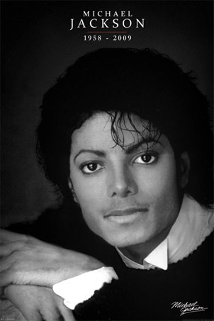 Black and white portrait michael jackson poster