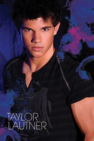 Brooding in Blue - Taylor Lautner