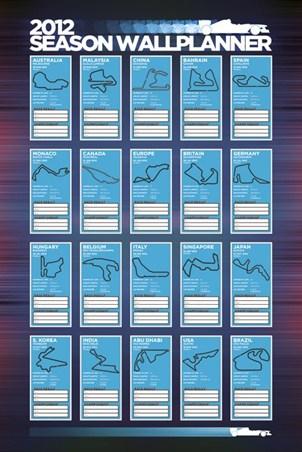 2012 Race Season Wallplanner - Formula One