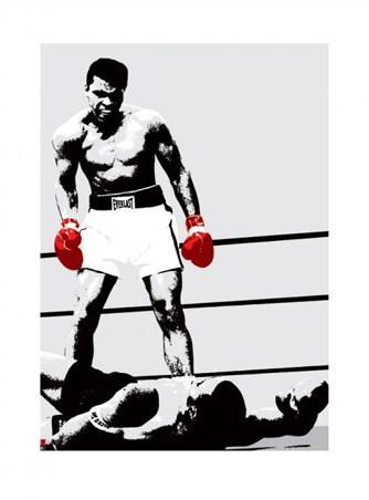 Bright Red Gloves - Muhammad Ali