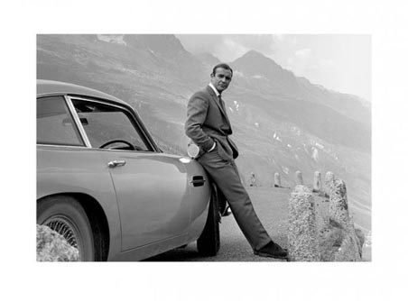 Bond and his Aston - Sean Connery is 007