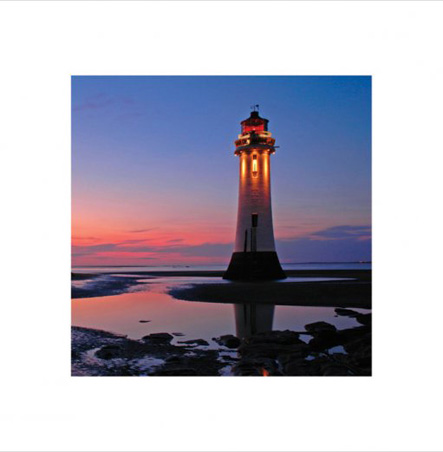 Lighthouse at Dawn - Dawn on the Shore