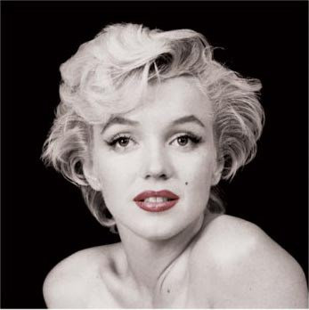 Marilyn Monroe Face & Shoulders - Red Lips
