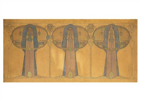 Design for a Decorative Freeze - Frances Macdonald MacNair