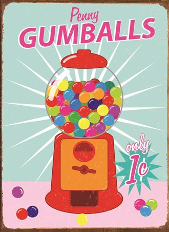 Penny Gumballs - Vintage Advertising