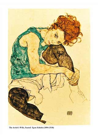 The Artists Wife Seated, 1918 - Egon Schiele