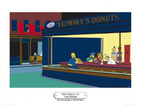 Nighthogs – Apologies to Edward Hopper - The Simpsons