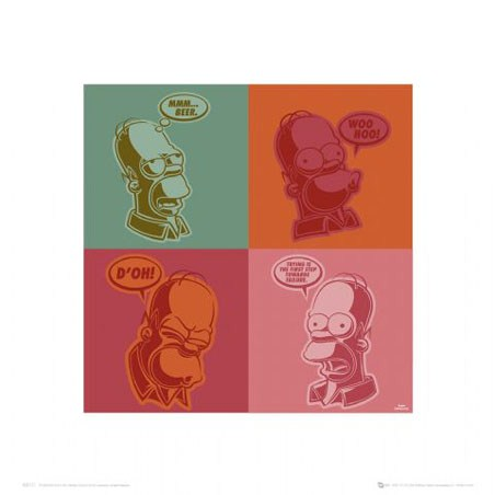 Warhol-Style Homer - The Simpsons