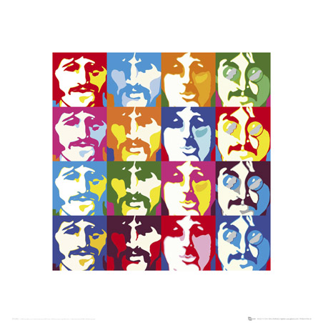 The Fab Four in Pop Art - The Beatles