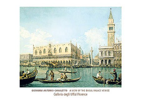 A View of the Ducal Palace Venice, 1755 - Giovanni Antonio Canaletto