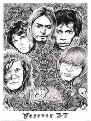 Cobain, Hendrix, Joplin, Morrison, Jones - Forever 27