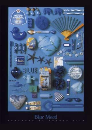 Framed Blue Mood - Andrea Tilk