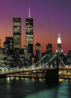 Manhattan at Night - 4 Sheet Wall Mural