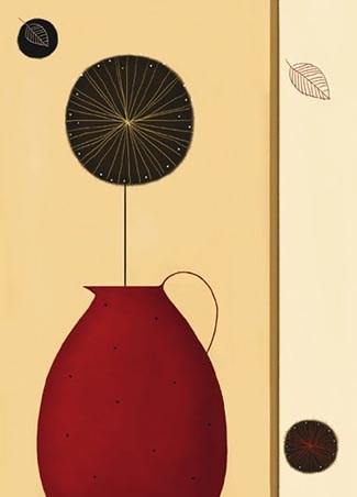 The Red Pitcher by Jo Parry - Art 4 Sheet Wall Mural