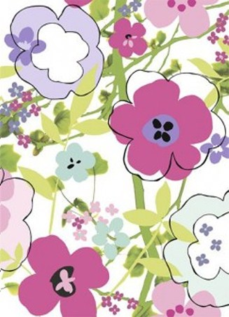 Floral Composition - 4 Sheet Wall Mural By Louise Anglicas