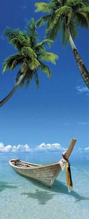 Eternal Quest - Tropical Beach Door Mural