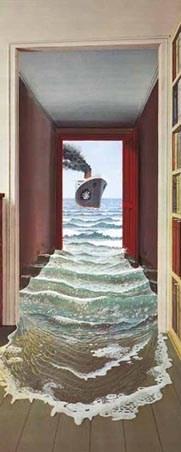 Le Secret by Dominique Appia - Art 1 Sheet Door Mural