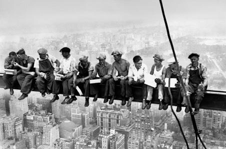 Eating Above Manhattan by Charles C. Ebbets - Photography Mini Mural
